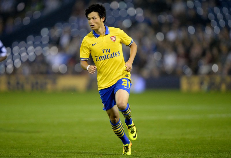 25th September 2013 - Capitol One Cup Third Round - West Bromwich Albion v Arsenal - Ryo Miyaichi of Arsenal - Photo: Marc Atkins / Offside.