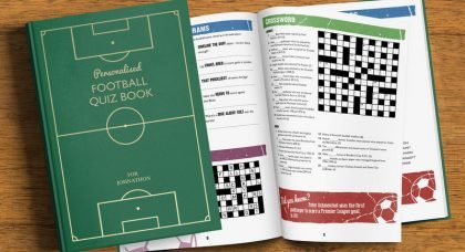 COMPETITION HAS ENDED: Personalised Football Quiz Book!