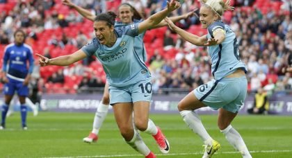 Carli Lloyd sent off in Manchester City's 5-1 mauling of Yeovil Town