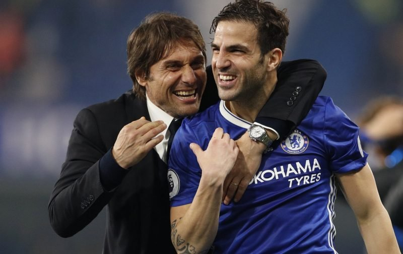 Antonio Conte tells Fabregas he wants him to stay at Chelsea