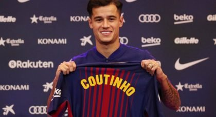 Manchester United contact Philippe Coutinho's agent ahead of potential move