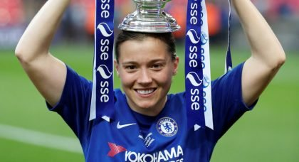 England striker Fran Kirby signs new three-year contract at Chelsea Women