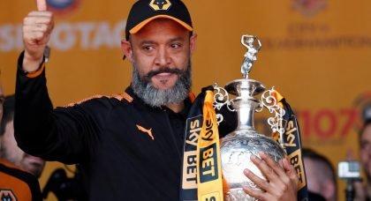 Wolves boss Nuno Espírito Santo added to Manchester United's shortlist of potential Jose Mourinho successors