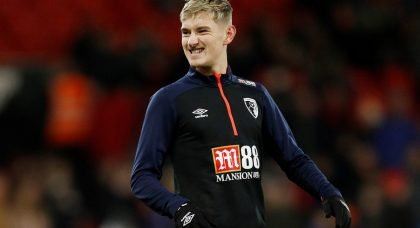 Manchester United and Tottenham linked with Bournemouth's David Brooks