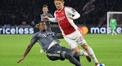 West Ham and Southampton tracking Ajax forward Kasper Dolberg