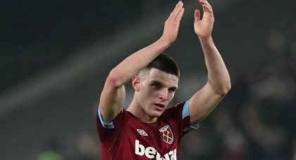 Tottenham plan £35 million swoop for West Ham midfielder Declan Rice