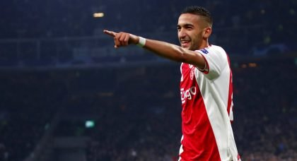 Chelsea join race for Ajax playmaker Hakim Ziyech