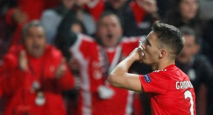 Arsenal and Manchester City to do battle for signature of Benfica defender Alex Grimaldo