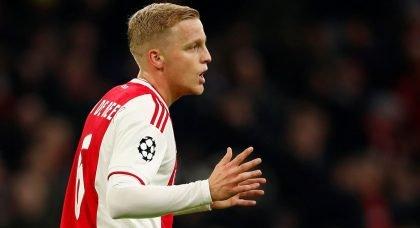Tottenham eye Ajax midfielder Donny van de Beek as replacement for Christian Eriksen