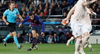 Boy's Got Skills: FC Barcelona playmaker Philippe Coutinho's wonder strike finishes Manchester United