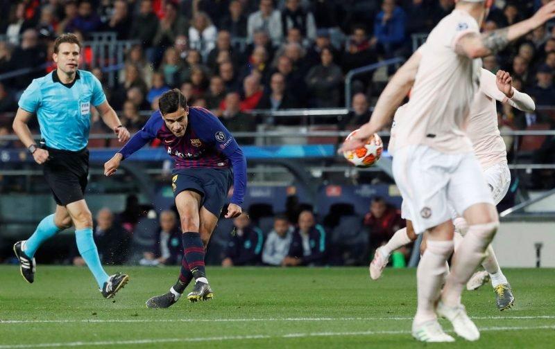 Boy's Got Skills: FC Barcelona playmaker Philippe Coutinho's wonder strike finishes Manchester United