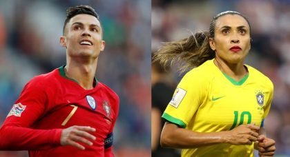 Who are the highest earning players in men's and women's football?