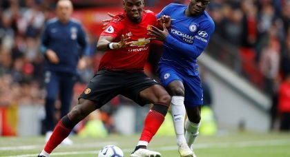 Premier League Head-to-Head: Paul Pogba (Manchester United) vs N'Golo Kante (Chelsea)