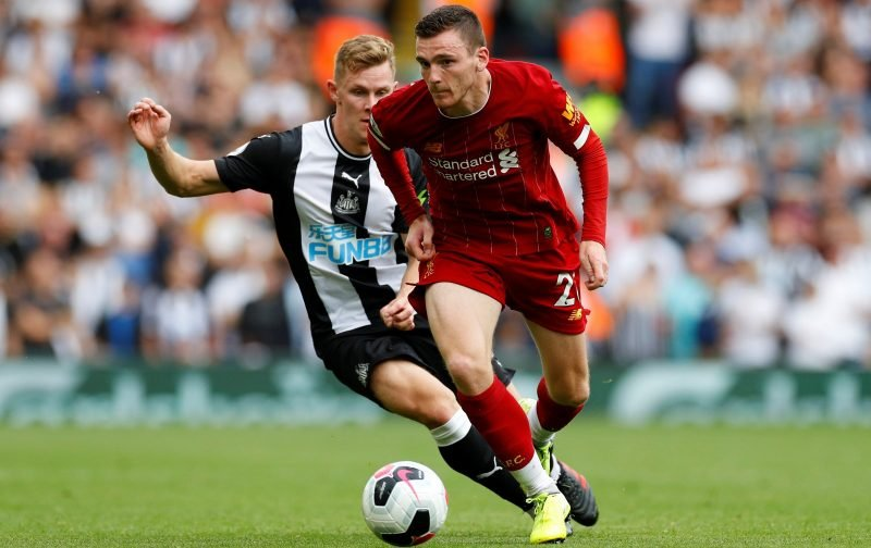 Liverpool defender Andrew Robertson a doubt for Napoli trip